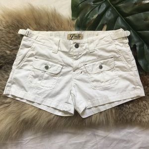 LUCKY BRAND | white cotton shorts with pockets